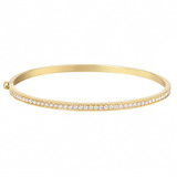 18k Gold & Diamond Hinged Bangle