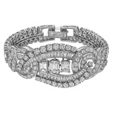 Diamond Centerpiece Bracelet (~25 ct tw)