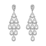 ​Long Diamond Articulated Chandelier Earrings