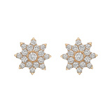 Pavé Diamond Starburst Stud Earrings