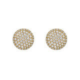 Large Pavé Diamond Domed Earstuds (~1.20 ct tw)