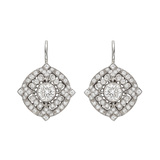 Diamond Filigree Drop Earrings