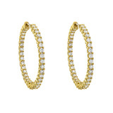 Medium Diamond Hoop Earrings (~3.00 ct tw)