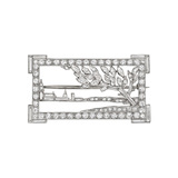 Platinum & Diamond Landscape Pin