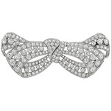 Antique Diamond Bow Brooch (~13 ct tw)