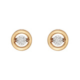 "Diamond & 18k Pink Gold ""Halo"" Earstuds"