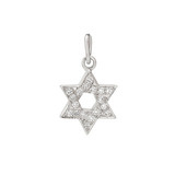 Star of David Diamond Charm