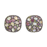 "Multicolored Gemstone ""Pebble"" Earrings"