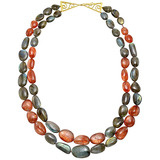 ​2-Strand Labradorite & Sunstone Bead Necklace