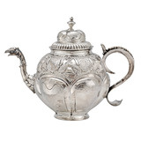 Antique Dutch Silver Tea Pot with Eagle Spout