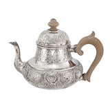 Dutch Silver Tea Pot with Shell Pattern, Circa 1747
