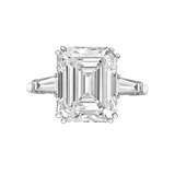 5.67 Carat Emerald-Cut Diamond Engagement Ring