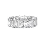 Emerald-Cut Diamond Eternity Band Ring (~12 ct tw)