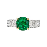 1.64 Carat Colombian Emerald & Diamond Ring