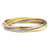 18k Gold & Diamond 'Trinity' Rolling Bangle