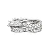 "18k White Gold & Diamond ""Trinity"" Ring"