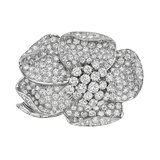 ​Diamond Flower Brooch (~12.5 ct tw)
