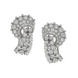 Pair of Diamond Scroll Dress Clips