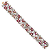 Ruby & Diamond Foliate Bracelet