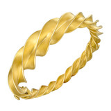 "Schlumberger 18k Yellow Gold ""Crazy Twist"" Bangle"