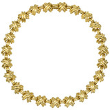 18k Gold &#039;X&#039; Link Necklace