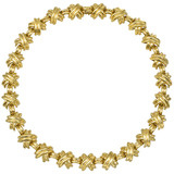 18k Gold &quot;X&quot; Link Necklace