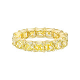 Fancy Intense Yellow Diamond Eternity Band (7.60 ct tw)