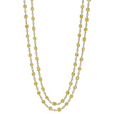 ​Fancy Yellow & White Diamond Chain Long Necklace
