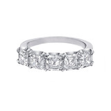 Five Stone Asscher-Cut Eternity Band (~4.5 ct tw)