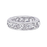 Channel-Set French-Cut Diamond Eternity Band (~10 ct tw)
