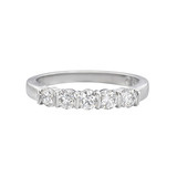 Five Stone Diamond Eternity Band (~0.5 ct tw)