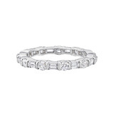 Round & Baguette Diamond Eternity Band (~1.5 ct tw)