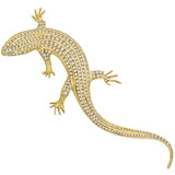 ​Large 18k Gold & Diamond Salamander Brooch