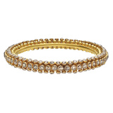 "​18k Gold & Brown Diamond ""Sputnik"" Bangle"