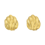 18k Yellow Gold Fluted Earclips