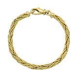 18k Yellow Gold Twisted Foxtail Link Bracelet