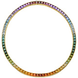 "Multicolored Gemstone ""Rainbow"" Necklace"