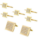 18k Gold & Pavé Diamond Square Dress Set
