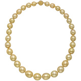 ​Golden South Sea Pearl Necklace with Yellow Sapphire Clasp