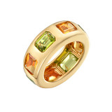 Peridot & Citrine Band Ring