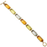 Multicolored Gemstone Line Bracelet