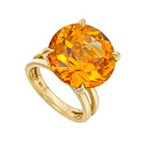 Large Citrine Wrap Ring