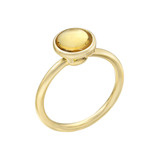 Stackable Circular-Cut Citrine Ring