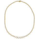 Graduated Diamond Line Necklace
