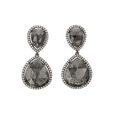 Rose-Cut Gray Diamond 'Slice' Drop Earrings