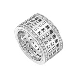 ​18k White Gold & Diamond Spinning Band Ring