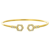 "​18k Yellow Gold & Diamond ""B"" Bracelet"