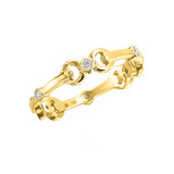 18k Yellow Gold &amp; Diamond &quot;Gallop&quot; Ring
