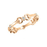 18k Pink Gold &amp; Diamond &quot;Gallop&quot; Ring