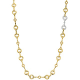"18k Gold & Diamond ""Gallop"" Long Necklace"